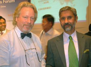 Chris Devonshire Ellis with Indian Ambassador to China S. Jaishanker